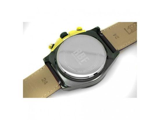 RiVALLI Hodinky pre pilotov RBF, chronograf, dátum, čierny RBF kožený náramok