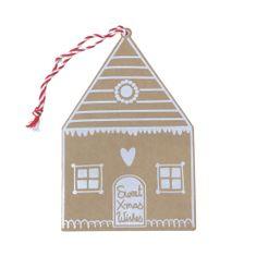 Decor By Glassor Vánoční přání perníková chaloupka