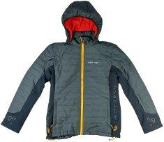 MAYA MAYA Ženska zimska bunda jakna s snemljivo kapuco - Tama Jacket, Primaloft tehnologija, temno siva
