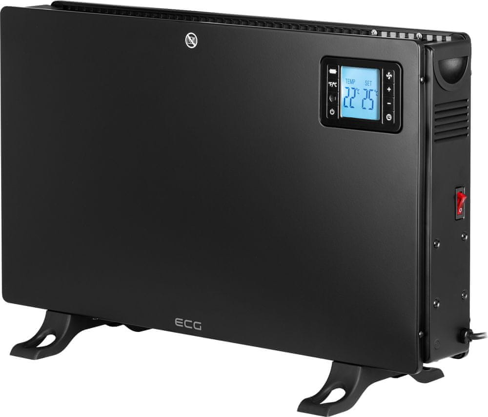 ECG TK 2080 elektrické topidlo, černá