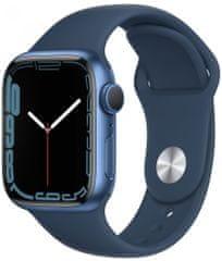 Apple Watch Series 7, 41mm Blue Aluminium Case Abyss Blue Sport Band MKN13HC/A
