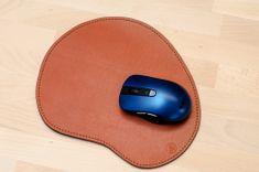 Kožená podložka pod myš CLASSIC 195x235mm, světle hnědá