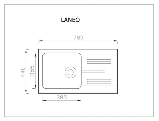 Halmar Laneo granitový kuchynský drez 78x44 cm biela