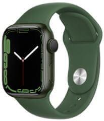 Apple Watch Series 7, 41mm Green Aluminium Case Clover Sport Band MKN03HC/A