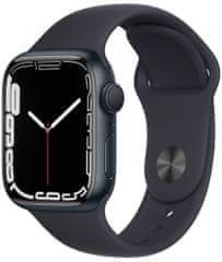 Apple Watch Series 7, 41mm Midnight Aluminium Case Midnight Sport Band MKMX3HC/A