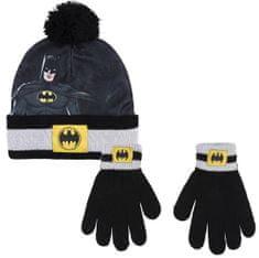 Disney chlapčenský čierny set čiapky a rukavíc Batman 2200007930