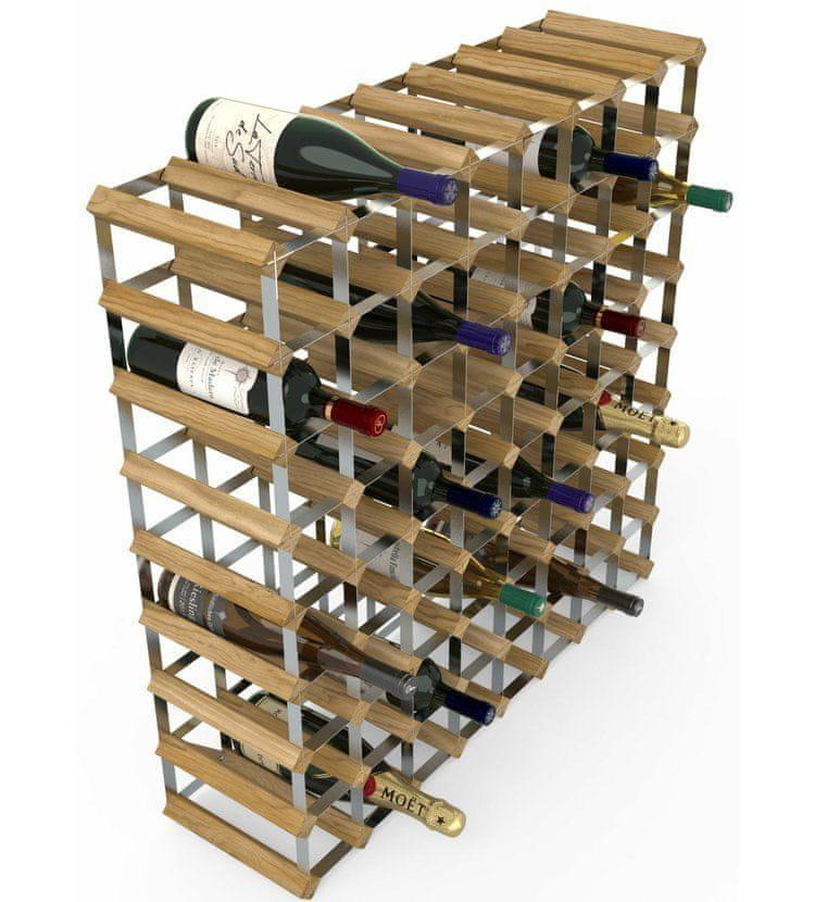 RTA Global Stojan na víno na 72 lahví, světlý dub - pozinkovaná ocel / rozložený