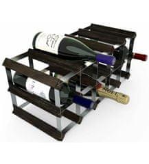 RTA Global Stojan na víno na 15 lahví, černý jasan - pozinkovaná ocel / rozložený