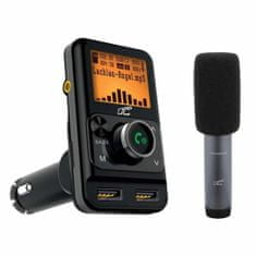 LTC FM bluetooth 5.0 oddajnik transmitter z mikrofonom 2xUSB 1+2,4A