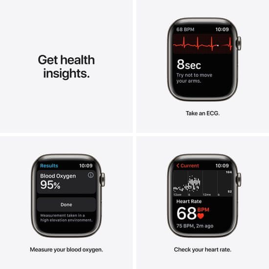Apple Watch Series 7 Cellular, 45mm Graphite Stainless Steel Case Graphite Milanese Loop MKL33HC/A