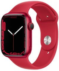 Apple Watch Series 7 , 45mm (PRODUCT)RED Aluminium Case (PRODUCT)RED Sport Band MKN93HC/A
