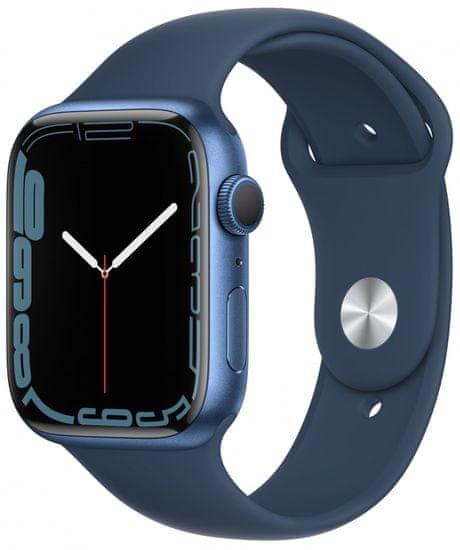 Apple Watch Series 7, 45mm Blue Aluminium Case Abyss Blue Sport Band MKN83HC/A