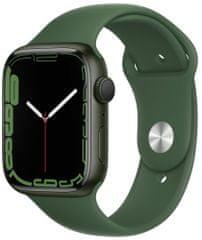 Apple Watch Series 7, 45mm Green Aluminium Case Clover Sport Band MKN73HC/A/A