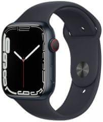 Apple Watch Series 7 Cellular, 45mm Midnight Aluminium Case Midnight Sport Band MKJP3HC/A