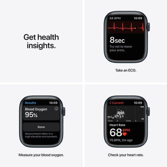 Apple Watch Series 7, 45mm Midnight Aluminium Case Midnight Sport Band MKN53HC/A