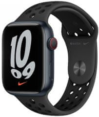 Apple Watch Nike Series 7 Cellular, 45mm Midnight Aluminium Case with Anthracite/Black Nike Sport Band MKL53HC/A