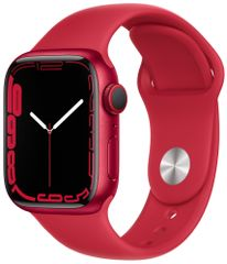 Apple Watch Series 7 Cellular, 41mm (PRODUCT)RED Aluminium Case RED Sport Band MKHV3HC/A