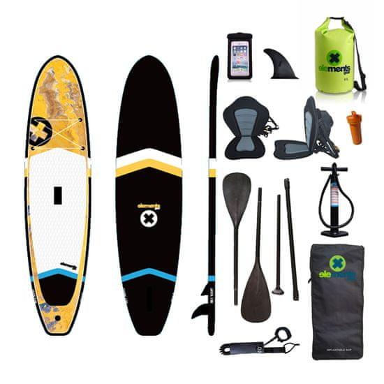 Elements Gear Java 106 seat - nafukovací paddleboard se sedačkou + obal na mobil a lodní pytel