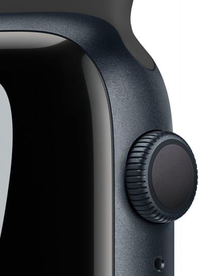 Apple Watch Nike Series 7 , 45mm Midnight Aluminium Case with Anthracite/Black Nike Sport Band MKNC3HC/A