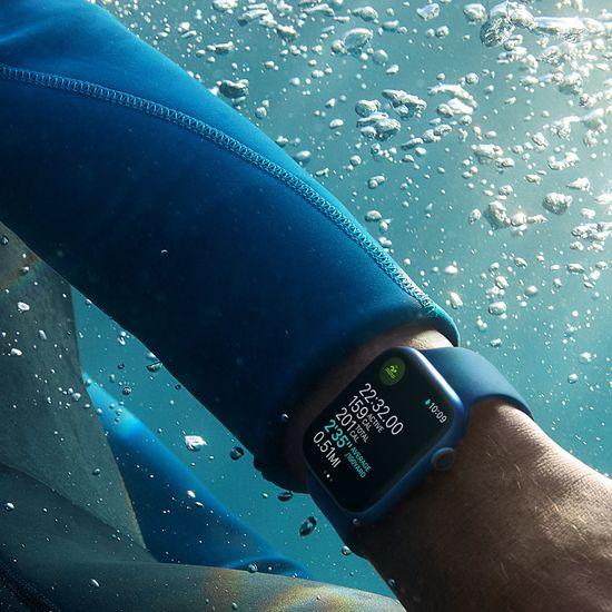 Apple Watch Nike Series 7 , 41mm Starlight Aluminium Case Pure Platinum/Black Nike Sport Band MKN33HC/A