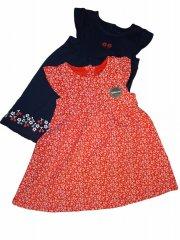 C&A Baby šaty červené a modré s kytičkami po dvou kusech