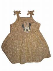 C&A Baby šaty růžové s kytičkami a hnědé s Minnie 2ks Vel:68
