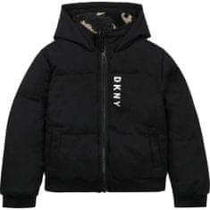 DKNY Chlapčenská bunda puffer obojstranná čierna/maskač DKNY-DKNY