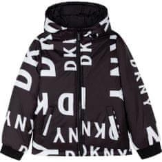 DKNY Chlapčenská bunda obojstranná čierna DKNY-DKNY