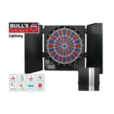 "Bull's Elektronický terč na šipky Lightning s kabinetem, hlas: Russ Bray ""The Vo"