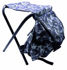 Peacock Batteries Rybářská židle s batohem ŠEDO-MODRÁ