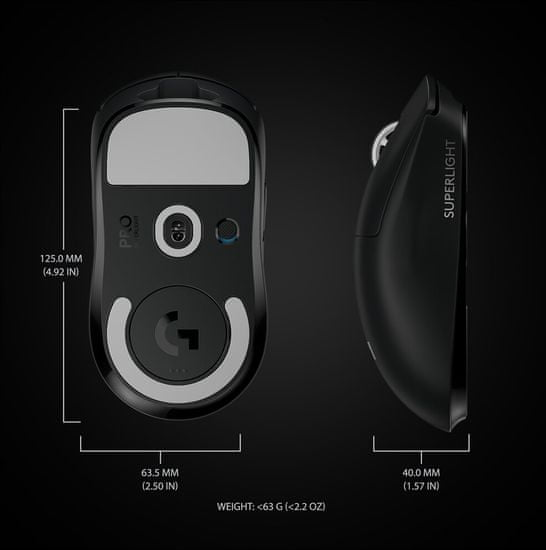 Logitech G Pro X Superlight (910-005880), čierna