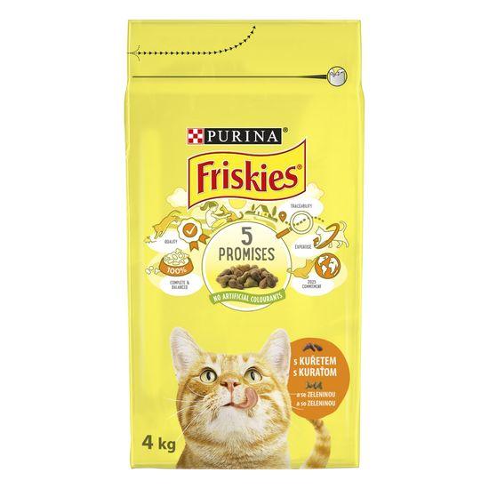 Friskies Cat s piletinom i povrćem, 4 kg