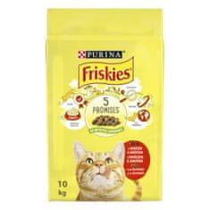 Friskies Cat s hovězím, kuřetem a zeleninou 10 kg