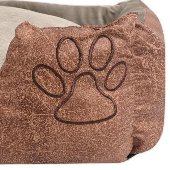 shumee Pelech pre psov s vankúšom, PU umelá koža, veľkosť L, béžový