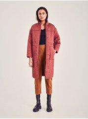 ICHI cihlový dámský zimní kabát L