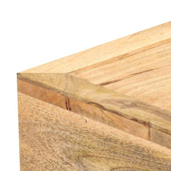 shumee Klubska mizica v obliki kasete 100x52x45 cm trden mangov les