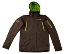 MAYA MAYA Moška podložena vodoodporna jakna s snemljivo kapuco in ClimateControl membrano, rjava, L