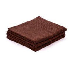 Povlečeme vše Ručník Top Hnědý 50x100 cm, 450 gsm 100% bavlny