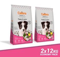 Calibra Premium Line Puppy & Junior hrana za pasje mladiče, piščanec, 2 x 12 kg