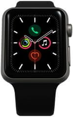 Apple Refurbished Watch Series 5, 44mm Space Gray Aluminium Case with Black Sport Band (Renewd)