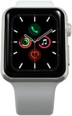 Apple Refurbished Watch Series 5, 40 mm Silver Aluminium Case with White Sport Band (Renewd)