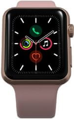 Apple Refurbished Watch Series 5, 40 mm Gold Aluminium Case with Pink Sand Sport Band (Renewd)