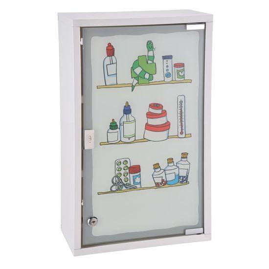 HI Skříňka na léky 30 x 15 x 50 cm nerezová ocel