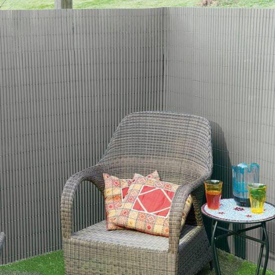 shumee Nature Obojstranná záhradná zástena PVC 1,5x3 m sivá