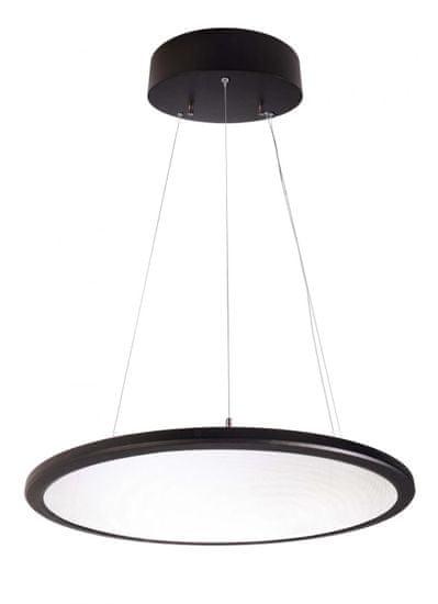 Light Impressions Light Impressions KapegoLED závesné svietidlo LED Panel číre guľaté 220-240V AC / 50-60Hz 53,70 W 4000 K 5600 lm čierna 342092