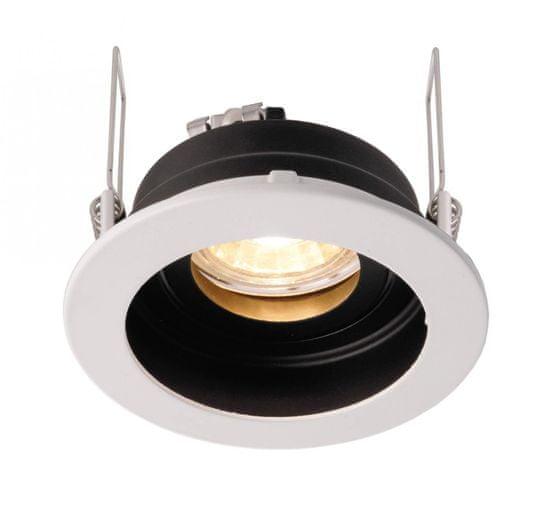 Light Impressions Light Impressions Kapego stropné vstavané svietidlo Enif 12V AC / DC GU5.3 / MR16 1x max. 35,00 W čierna / biela 110007