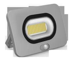 Century CENTURY REFLEKTOR LED SHUTTLE SLIM ŠEDÝ SENSOR 50W 4000K 3450Lm 120d 188x59x145mm IP65 CEN SHSLIS-509540
