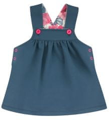 Nini dívčí šatičky z organické bavlny ABN-2830 tmavo modrá 74