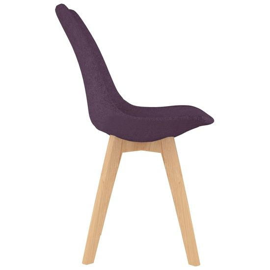 shumee Jedálenské stoličky 4 ks, fialové, látka