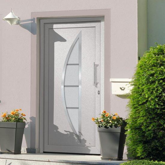 shumee Vstupné vchodové dvere Biele 98 x 208 cm